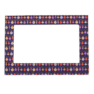 Christmas balls magnetic picture frame