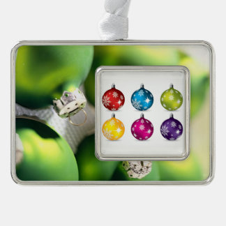 Christmas Balls! - ornament Silver Plated Framed Ornament