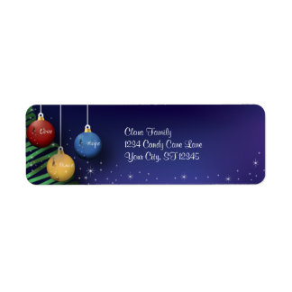 Christmas Balls Return Address Label