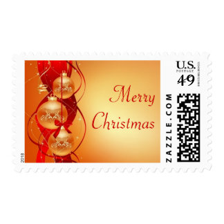 Christmas balls with ribbon postage