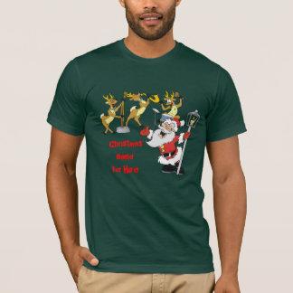 christmas band, singing santa, Christmas BandFo... T-Shirt