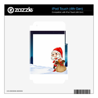 Christmas Banner iPod Touch 4G Decal