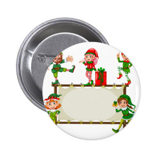 Christmas Banner Pinback Button