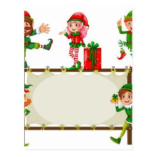 Christmas Banner Postcard