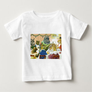 Christmas Banquet in Animal Land Baby T-Shirt