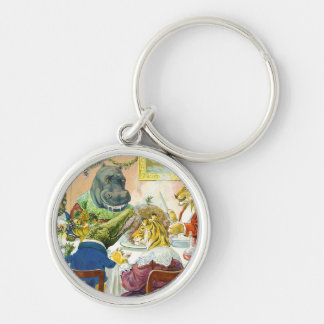 Christmas Banquet in Animal Land Keychain