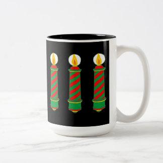 Christmas Barberpoles Two-Tone Coffee Mug