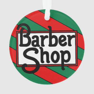 Christmas Barbershop Ornament