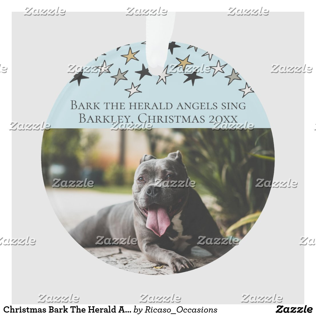 Christmas Bark The Herald Angels Sing Dog