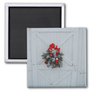 Christmas Barn Door Magnet