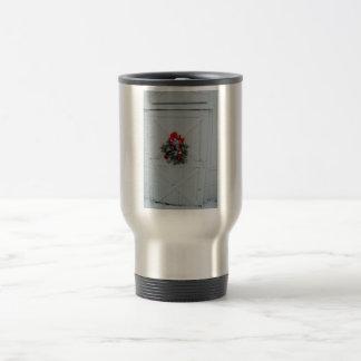 Christmas Barn Door Travel Mug