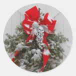 Christmas Barn Wreath Sticker