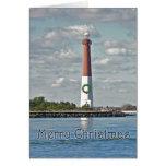 Christmas Barnegat Lighthouse Card