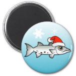 Christmas Barracuda Santa Refrigerator Magnet