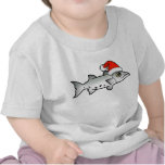 Christmas Barracuda Santa T Shirts
