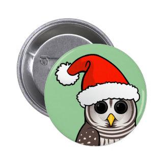 Christmas Barred Owl Santa Pins