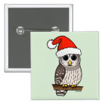 Christmas Barred Owl Santa Buttons