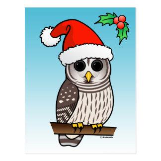 Christmas Barred Owl Santa Post Cards