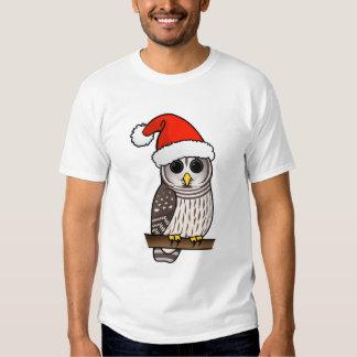 Christmas Barred Owl Santa T Shirt