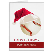Christmas baseball Ball Santa Hat Greeting Cards