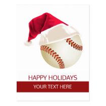 Christmas baseball Ball Santa Hat postCards