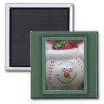 Christmas baseball magnet