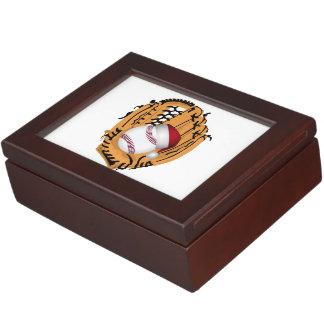 Christmas Baseball Mitt and Ball Memory Box
