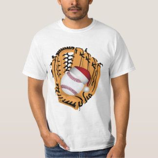 Christmas Baseball Mitt and Ball T-Shirt