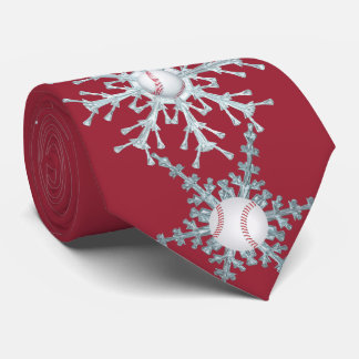 Christmas baseball neck tie