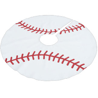 Christmas Baseball Sport Lovers Brushed Polyester Tree Skirt