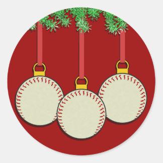 Christmas Baseball Stickers