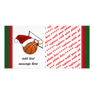 Christmas Basketball  and Hoop Card