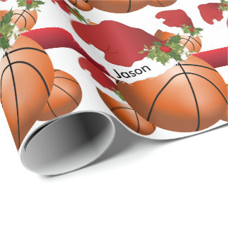 Christmas BasketBall | DIY Text Wrapping Paper