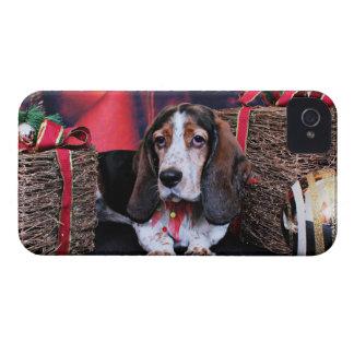 Christmas - Basset - Bailey Sue iPhone 4 Case
