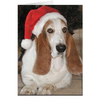 Christmas Basset-Happy Howlidays! Greeting Card