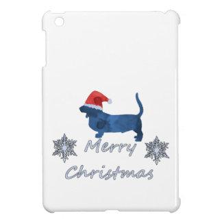Christmas Basset hound iPad Mini Cover