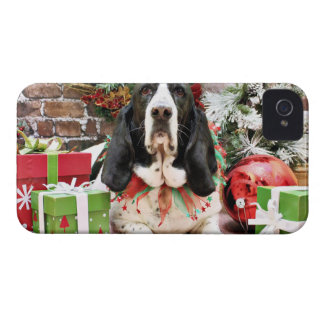 Christmas - Basset Hound - Jasmine iPhone 4 Case-Mate Case