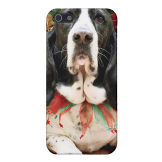 Christmas - Basset Hound - Jasmine Covers For iPhone 5