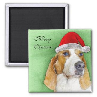 christmas Basset Hound magnet