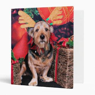 Christmas - Basset Hound X 3 Ring Binders