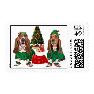 Christmas Basset Postage