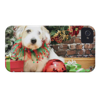 Christmas - Basset X - Maggie iPhone 4 Case
