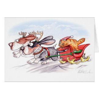 Christmas Bassets Card