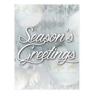 Christmas Baubels Seasons Greetings Postcard