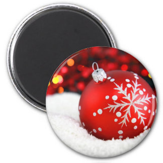 Christmas Bauble 2 Inch Round Magnet