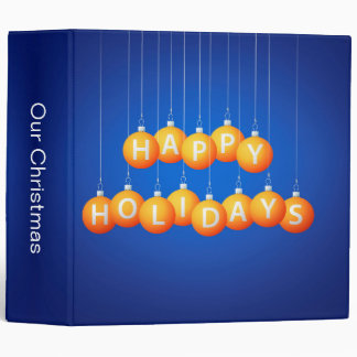 Christmas bauble 3 ring binder