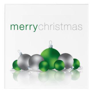 Christmas bauble acrylic print
