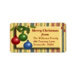 Christmas Bauble Address Label