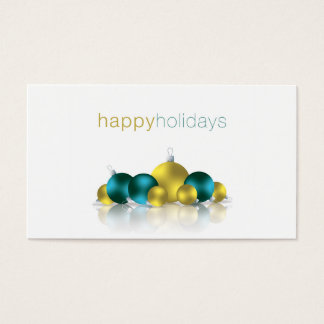 Christmas bauble business card