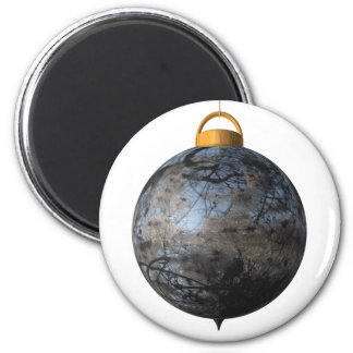 Christmas bauble clematis fridge magnets